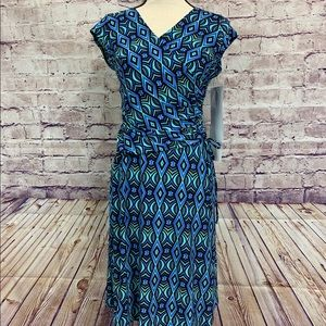 Evan Picone Print Sleeveless Dress
